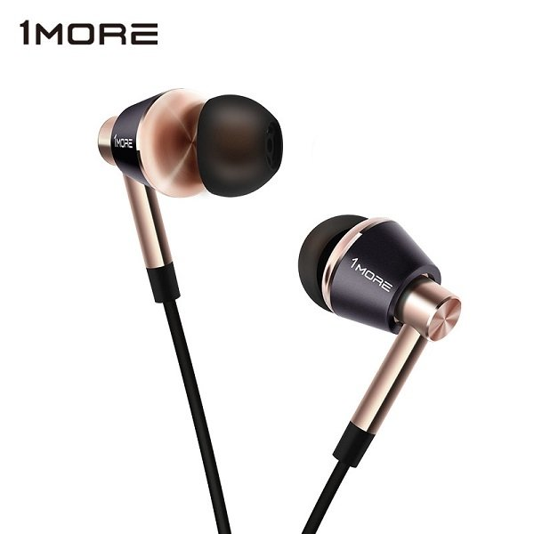 1MORE E1001 Triple Driver In-Ear Headphones (Black with Brushed Gold)