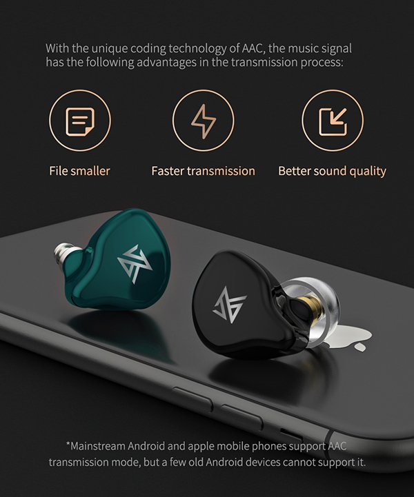 KZ S1 หูฟังไร้สาย True Wireless Earphones รองรับ Bluetooth 5.0 AAC , HIFI Sound Quality