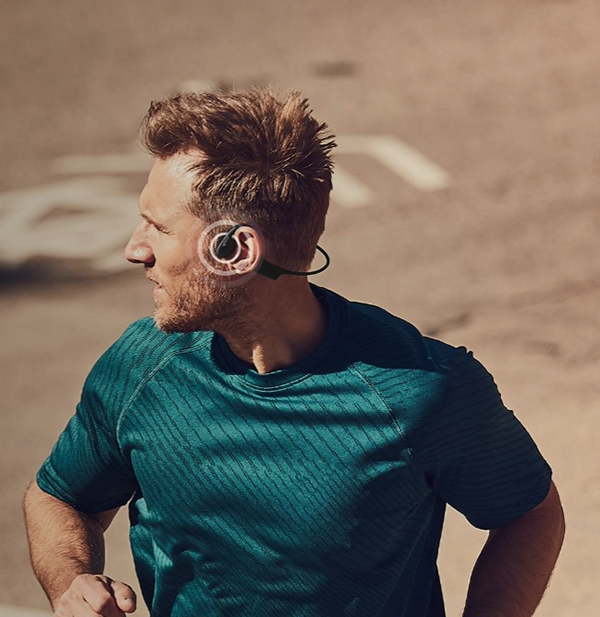 Aftershokz Xtrainerz Wireless Bone Conduction Earphone หูฟังไร้สาย เทคโนโลยี Bone Conduction รองรับ Noise Canceling IP68
